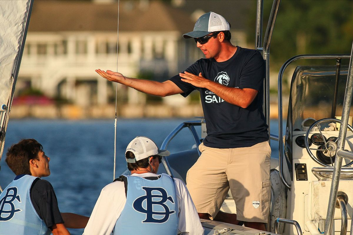 f308bf0d652 Jason Lutz wears many hats around Barnegat Bay. He is the coach of the CBA  sailing team
